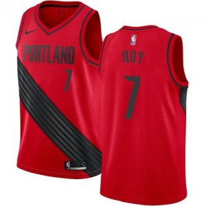 Nike NBA Maillots Brandon Roy Blazers Statement Edition Rouge No.7 Homme