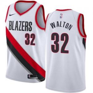 Nike NBA Maillots De Basket Walton Portland Trail Blazers Association Edition Blanc Homme No.32