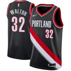 Maillot De Basket Bill Walton Portland Trail Blazers Homme Icon Edition Nike Noir #32