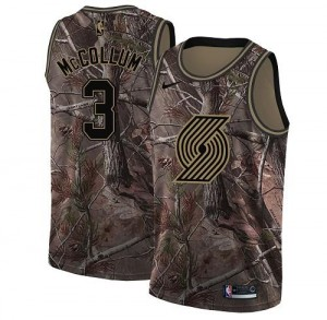 Nike NBA Maillots De C.J. McCollum Blazers Realtree Collection Homme No.3 Camouflage