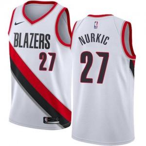 Nike NBA Maillots De Jusuf Nurkic Portland Trail Blazers #27 Association Edition Enfant Blanc