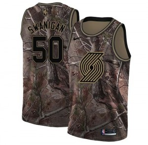 Maillots Swanigan Portland Trail Blazers Homme No.50 Camouflage Realtree Collection Nike