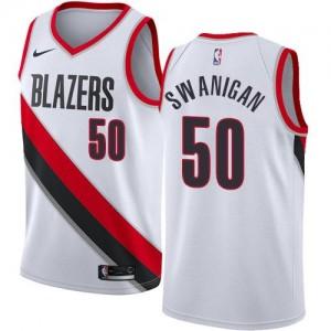 Maillots De Caleb Swanigan Portland Trail Blazers #50 Enfant Blanc Association Edition Nike
