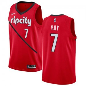 Nike Maillots De Basket Roy Blazers Rouge #7 Enfant Earned Edition