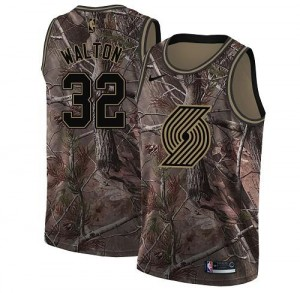 Nike NBA Maillots De Bill Walton Portland Trail Blazers Realtree Collection Enfant Camouflage #32
