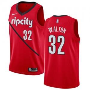 Maillot Basket Bill Walton Blazers Nike Earned Edition #32 Rouge Enfant