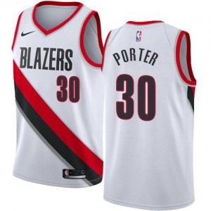 Maillot Basket Terry Porter Blazers #30 Association Edition Blanc Nike Enfant