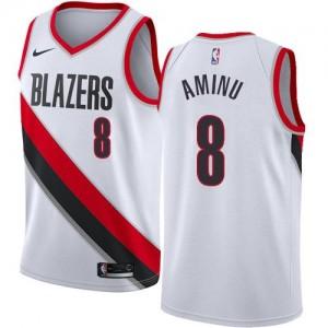 Maillots Al-Farouq Aminu Portland Trail Blazers #8 Enfant Nike Blanc Association Edition