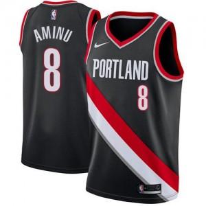 Nike Maillots Al-Farouq Aminu Portland Trail Blazers Icon Edition #8 Noir Enfant