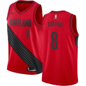 Maillot Aminu Portland Trail Blazers #8 Enfant Nike Rouge Statement Edition