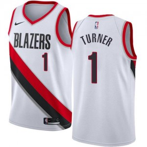 Nike NBA Maillot De Basket Evan Turner Blazers Blanc Association Edition #1 Enfant