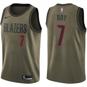Nike NBA Maillots De Brandon Roy Portland Trail Blazers No.7 Homme vert Salute to Service