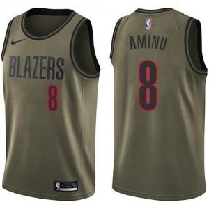 Maillot De Basket Aminu Portland Trail Blazers vert #8 Nike Salute to Service Enfant