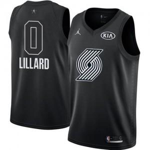 Maillots De Damian Lillard Blazers Enfant Noir 2018 All-Star Game #0 Jordan Brand