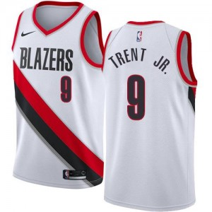 Nike Maillot Basket Gary Trent Jr. Blazers Blanc #9 Enfant Association Edition