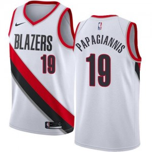 Nike NBA Maillot Basket Georgios Papagiannis Portland Trail Blazers Enfant Blanc Association Edition No.19