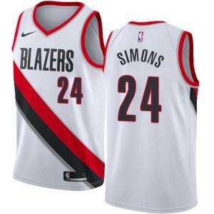 Nike NBA Maillot De Basket Anfernee Simons Portland Trail Blazers Association Edition #24 Blanc Enfant