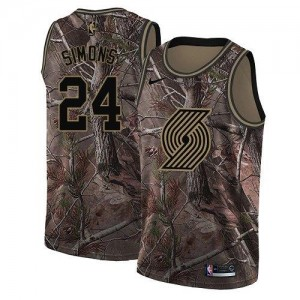 Maillots Basket Simons Portland Trail Blazers Homme Camouflage Realtree Collection #24 Nike