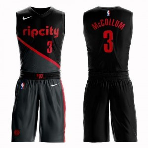 Nike NBA Maillots De McCollum Blazers Suit City Edition Noir No.3 Enfant
