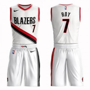Nike NBA Maillots De Basket Roy Blazers Suit Association Edition Blanc Homme No.7