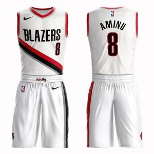 Maillots Al-Farouq Aminu Blazers Suit Association Edition Homme Nike No.8 Blanc