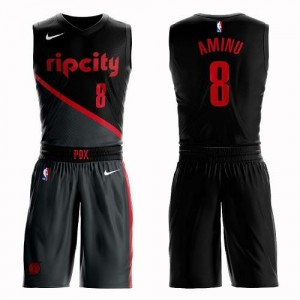 Maillots De Basket Aminu Blazers Enfant #8 Noir Suit City Edition Nike