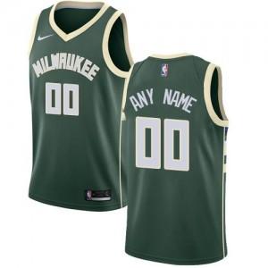 Nike Maillot Personnalisé Milwaukee Bucks Icon Edition Homme vert
