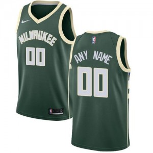 Nike NBA Maillot Personnalisable De Bucks Enfant vert Icon Edition