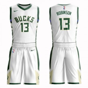 Nike Maillots De Glenn Robinson Bucks No.13 Suit Association Edition Blanc Homme