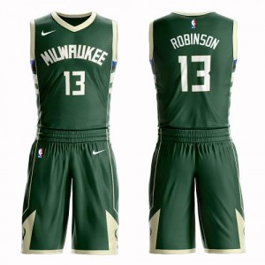 Nike NBA Maillot De Basket Robinson Bucks Enfant vert No.13 Suit Icon Edition