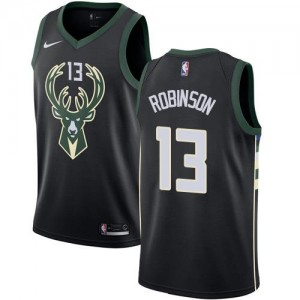 Nike NBA Maillots Robinson Bucks Statement Edition Noir No.13 Enfant