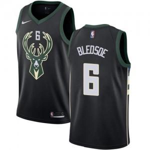 Nike Maillot Basket Bledsoe Bucks No.6 Noir Statement Edition Enfant