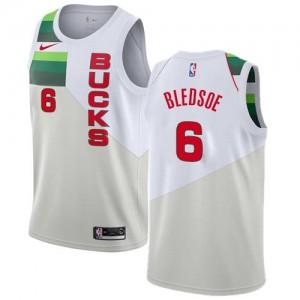 Nike NBA Maillot Eric Bledsoe Milwaukee Bucks Homme Blanc #6 Earned Edition