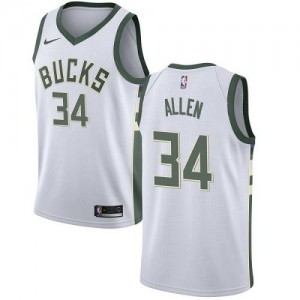Nike Maillot Basket Ray Allen Bucks Enfant Blanc Association Edition #34