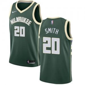 Maillot De Basket Jason Smith Bucks #20 Homme Icon Edition Nike vert