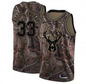 Maillot Basket Abdul-Jabbar Milwaukee Bucks Camouflage Realtree Collection No.33 Homme Nike