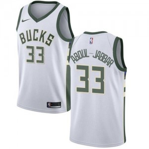 Nike NBA Maillot Abdul-Jabbar Milwaukee Bucks Enfant Association Edition Blanc #33