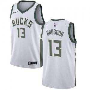 Nike Maillots De Brogdon Milwaukee Bucks Blanc Association Edition Enfant #13