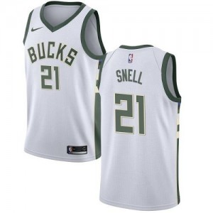 Nike Maillots Tony Snell Milwaukee Bucks Association Edition Blanc Enfant No.21