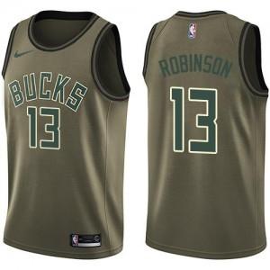 Maillots De Robinson Milwaukee Bucks vert Homme Salute to Service Nike No.13