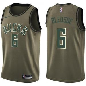 Nike NBA Maillot Eric Bledsoe Bucks Homme No.6 vert Salute to Service