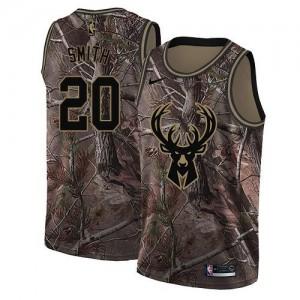 Nike Maillot Basket Jason Smith Milwaukee Bucks Enfant #20 Camouflage Realtree Collection