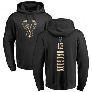 Nike Hoodie De Basket Brogdon Milwaukee Bucks #13 Homme & Enfant Backer noir une couleur Pullover