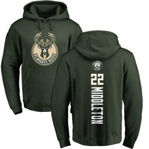 Sweat à capuche Basket Khris Middleton Milwaukee Bucks No.22 Homme & Enfant vert Backer Pullover Nike