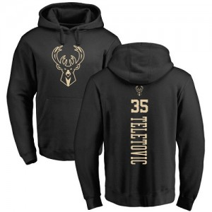 Nike NBA Hoodie Basket Mirza Teletovic Bucks Pullover #35 Homme & Enfant Backer noir une couleur