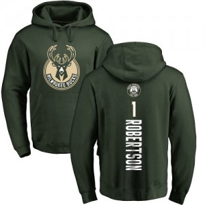 Nike NBA Sweat à capuche De Basket Oscar Robertson Milwaukee Bucks vert Backer #1 Pullover Homme & Enfant