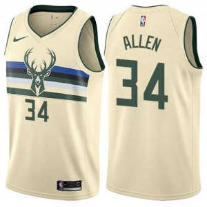 Nike NBA Maillot Basket Allen Milwaukee Bucks Blanc laiteux No.34 Enfant City Edition
