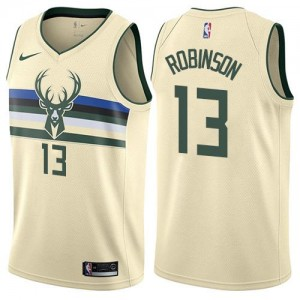 Nike Maillot De Basket Robinson Milwaukee Bucks Blanc laiteux City Edition Enfant #13