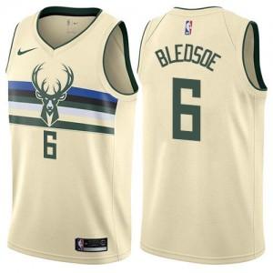 Nike Maillot Eric Bledsoe Milwaukee Bucks Homme Blanc laiteux No.6 City Edition