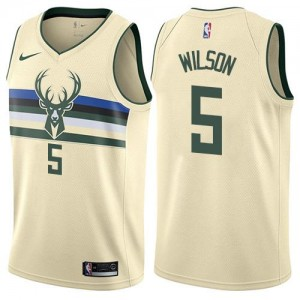 Nike NBA Maillot De Basket Wilson Milwaukee Bucks Blanc laiteux City Edition No.5 Enfant
